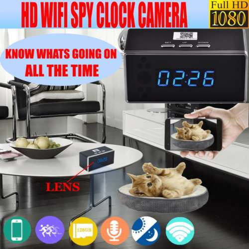 MT-67 Wifi Spy Clock 1080P HD Motion Detection Manual Night Vision 140 Degrees Wide Angle