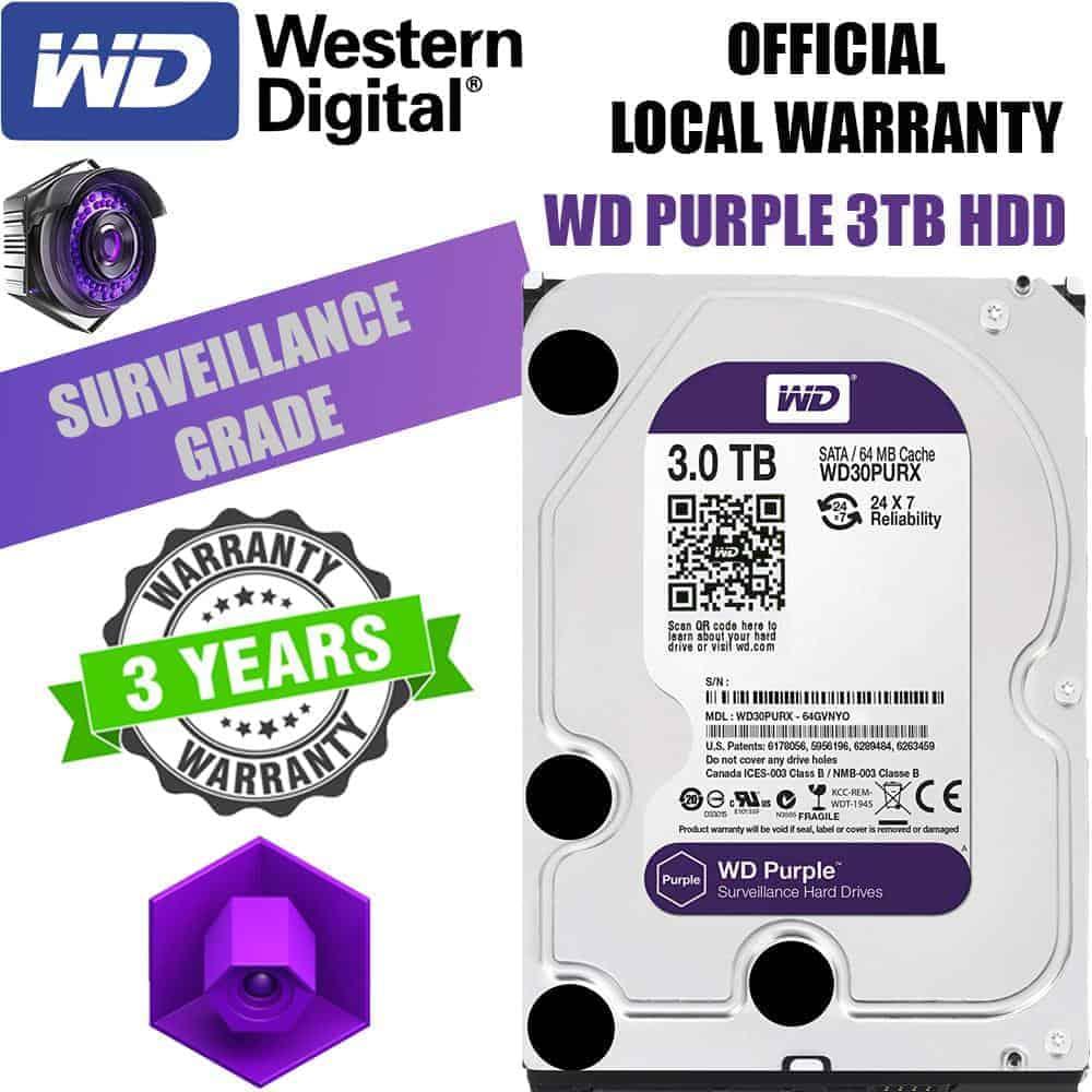 Western Digital WD PURPLE 3 5 Internal 3TB HDD