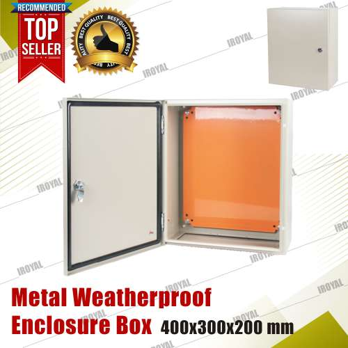 Metal Enclosure Weatherproof Box 400x300x200 mm