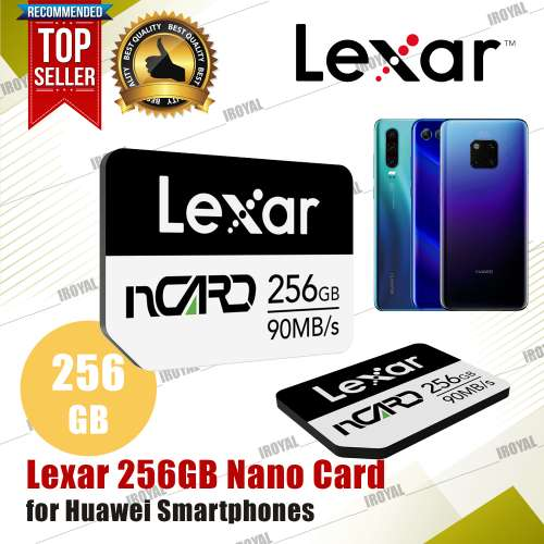 Lexar 256GB nCARD Nano Card 90MB/s Memory Card for Huawei Smart Phones and Tablets