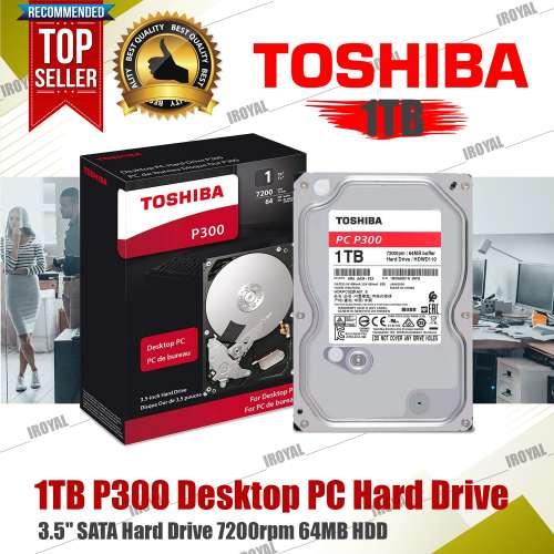 Toshiba 3.5 P300 1TB 7200rpm 64MB HDD