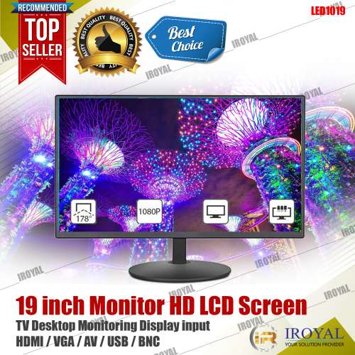 iRoyal LED1019 19Inch Monitor HD LCD Screen TV Desktop