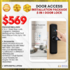 5-in-1 SMART DOOR LOCK Fingerprint Password Mechanical Key Door Card Smart Phone Code 100 users Door Access INSTALLATION