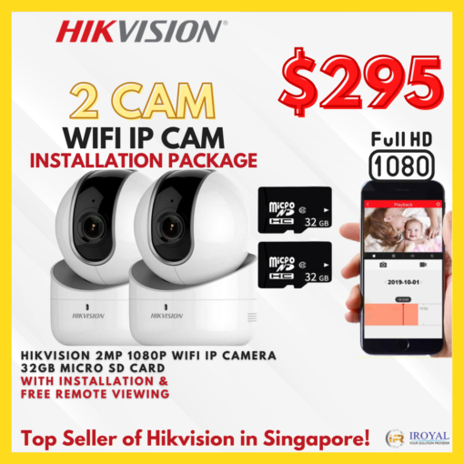 HIKVISION WIFI IP Camera solution with Installation in Singapore | IRoyal