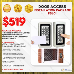 Keypad RFID Access Control System Proximity Card Standalone 2000 Users Door Access Installation Package FS601