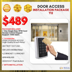 One Single Door RFID Card Access Control Keypad Support 1000 Users Door Access INSTALLATION PACKAGE T12