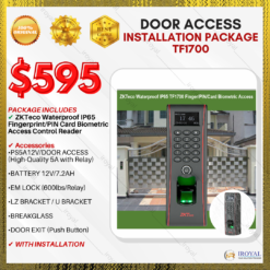 ZKTeco Waterproof IP65 Fingerprint/PIN Card Biometric Access Control Reader Door Access INSTALLATION PACKAGE TF1700