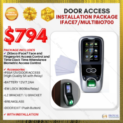 ZKteco iFace7 Face and Fingerprint Access Control and Time Clock Time Attendance Biometric Door Access INSTALLATION