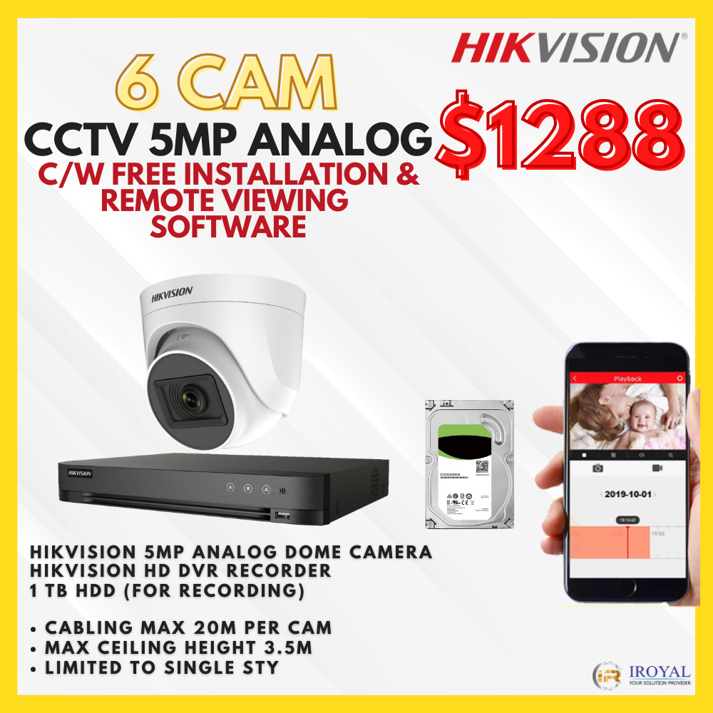 Hikvision 5mp Ultra HD Package in Singapore